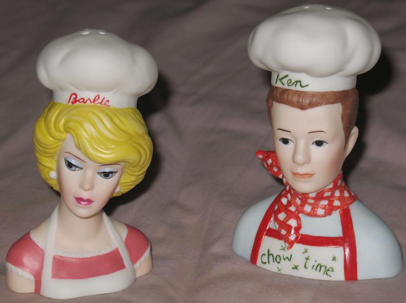 Barbie & Ken Chefs Salt and Pepper Shakers