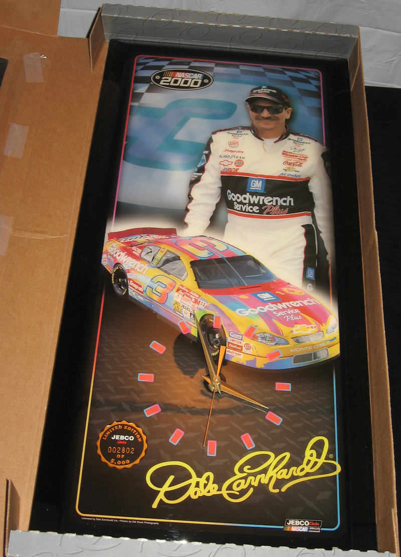 RARE- NASCAR- Dale Earnhardt Sr. Jebco Clock- Peter Max