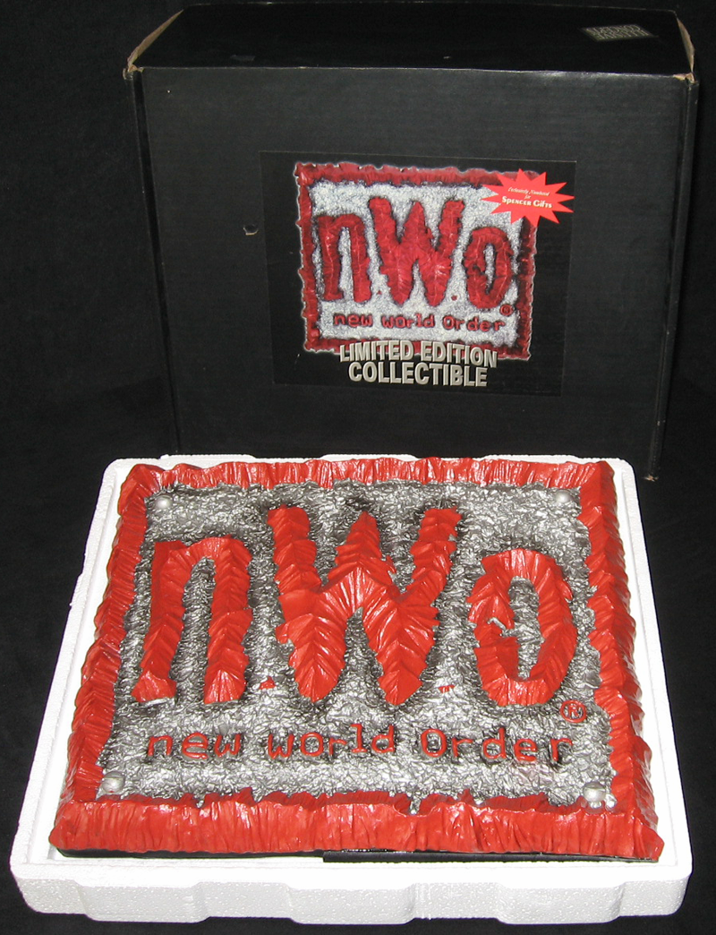 N.W.O. WCW plaque/sculpture- Illusive Concepts :  doomsday grey square odd